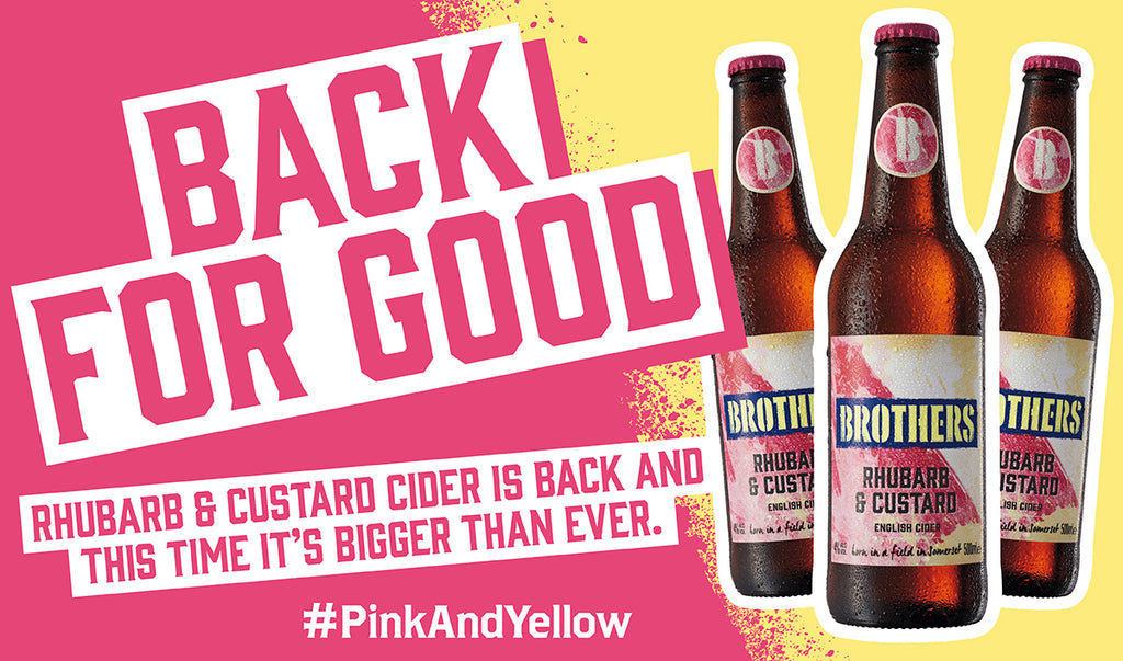 The taste of your summer - Brothers Rhubarb & Custard cider