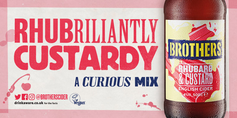 Brothers Rhubarb And Custard Cider - A Curious Mix