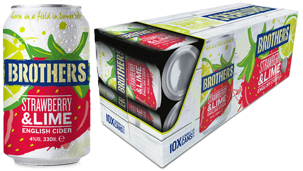 Brothers Strawberry & Lime cider 300ml can fridge pack