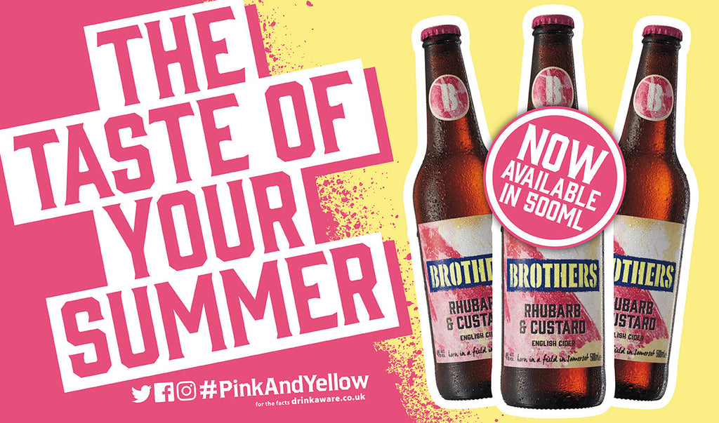 Brothers Rhubarb & Custard Cider available in Tesco