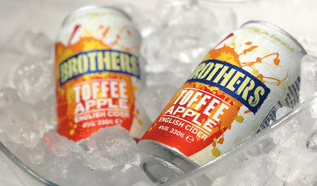 New Toffee Apple cider cans