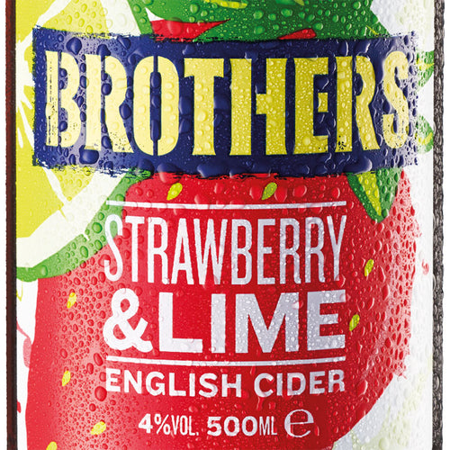 Brothers Strawberry & Lime fruit cider