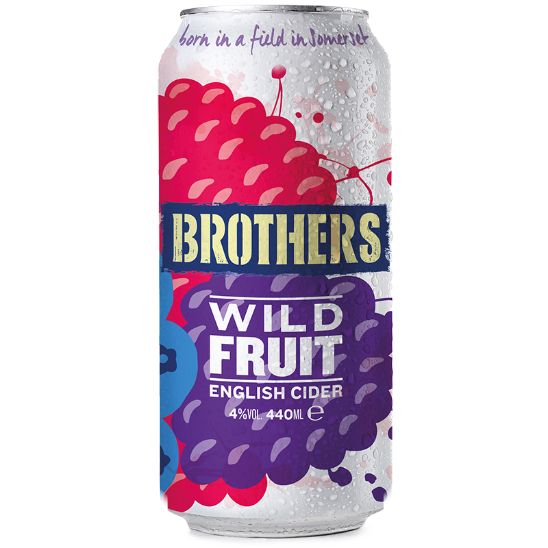 Brothers Wild Fruit cider 440ml cans