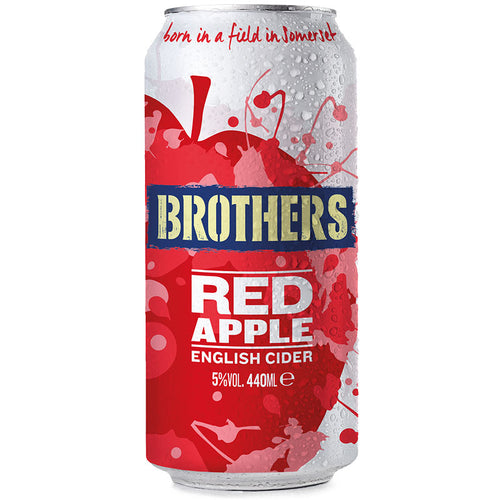 Brothers Red Apple Flavoured Cider 440ml can