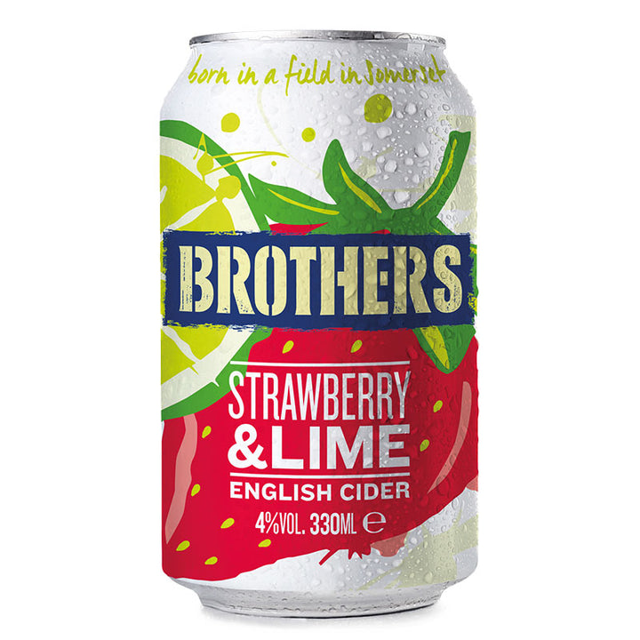 Strawberry And Lime fruit flavoured cider 330ml can