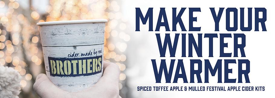 Keep warm this winter with our Spiced Toffee Apple & Mulled Festival Apple cider kits