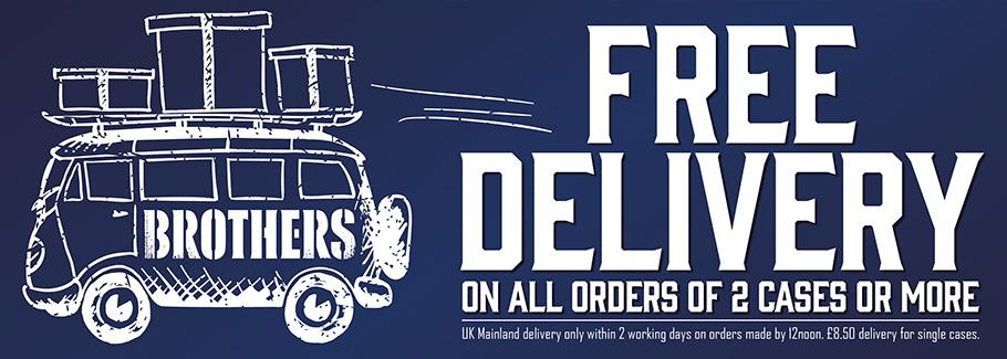 Free delivery on 2 cases or more!