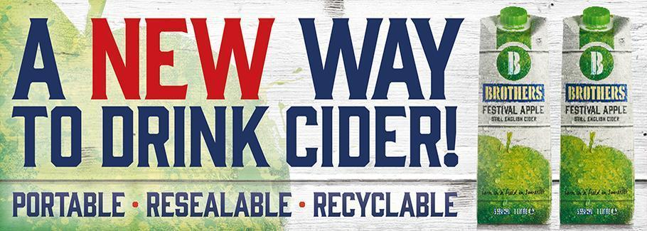 A new way to drink cider. New Festival Apple Cider cartons!