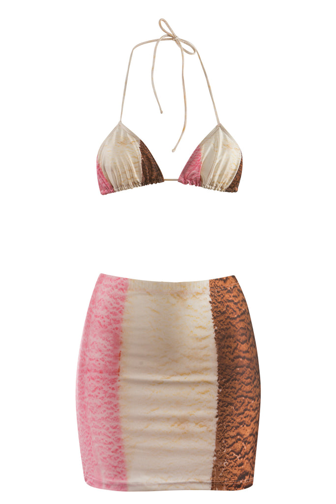 Neapolitan Bodycon Mini Skirt