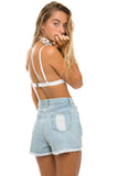 Wategos High Waist Denim Shorts