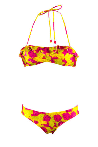 Neon Floral Hipster Brief