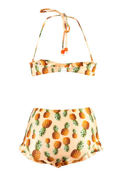 Sunshine Pineapple Frill Top