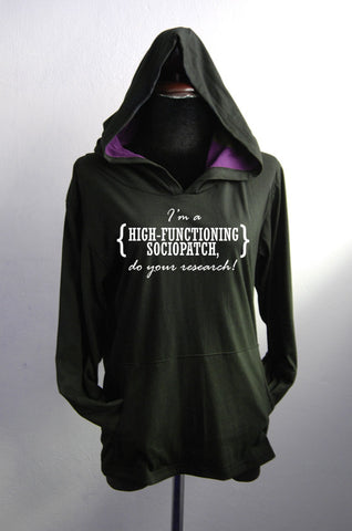 SHERLOCK Hoodie long sleeve I'm a high functioning sociopatch do your research