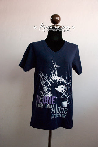 Sherlock Alone is what I have Alone protects me Ver.02 T-shirt short sleeve