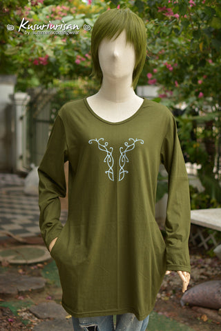 Elf Olive green dress tunic