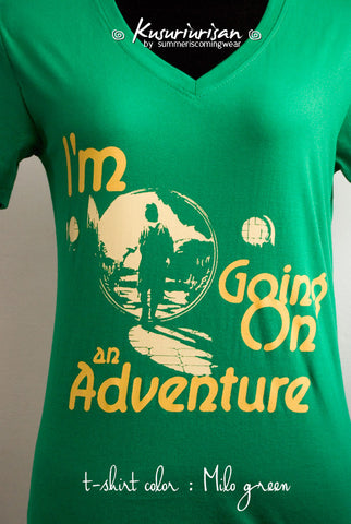 I'm going on an adventure T-shirt short sleeve