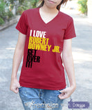 I love Robert Downey Jr. get over it ver.2 t-shirt short sleeve