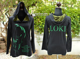 Loki green highlight with quote I am burdened and LOKI name on the back side t-shirts hoodie long sleeve