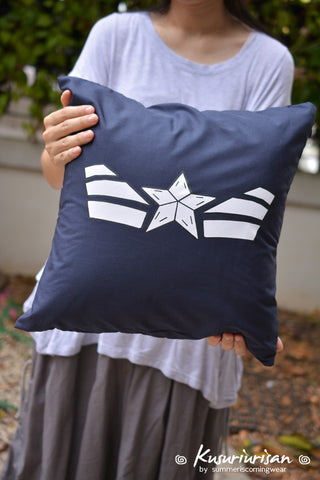 Captain America White star cushions cover 16x16 inches
