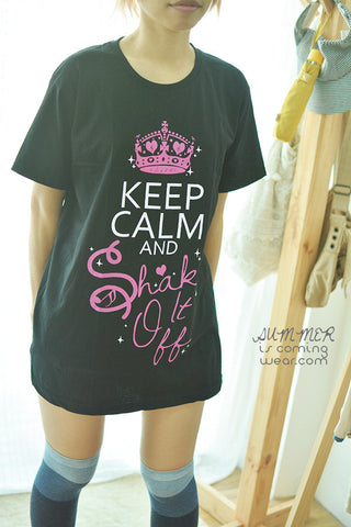 Keep Calm and shake it off t-shirt short sleeve