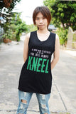 Loki kneel black dress tunic sleeveless you were made to be ruled in the end you'll always kneel