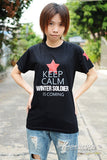 Captain America Bucky t-shirt keep calm winter soldier is coming short sleeve