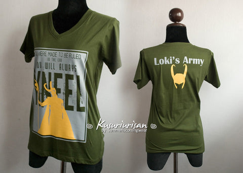 Loki You were made to be ruled and Loki's army with helmet Tshirt
