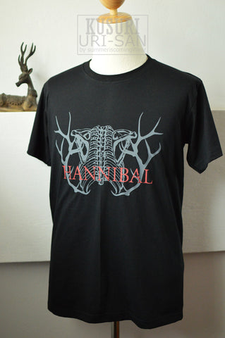 Hannibal Antler and rib bone on T-shirt Short Sleeve
