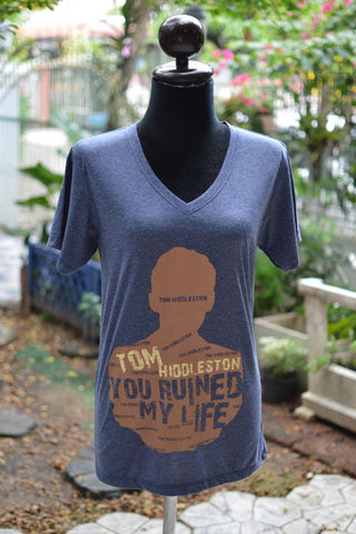 Tom Hiddleston you ruined my life t shirt short sleeve