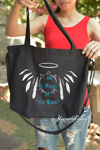 Supernatural I am an Angel of the lord with Enochian Tote Bag with Shoulder strap