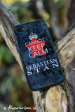 Cannot keep calm I'm thinking of Sebastian Stan phone case