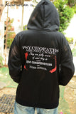 Hannibal sweatshirt hoodie EAT the RUDE and Psychopaths are not crazy-can choose pull over or zipper