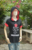 Keep calm and love the Winter Soldier on black t-shirt hoodie short sleeve