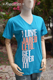 I LOVE Jared Leto get over it t-shirt short sleeve