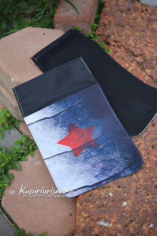 The Winter Soldier :Red star on metal arm Flap - for change the Messenger bag's design