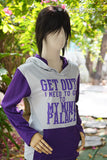 Get out I need to go to my mind palace Sherlock light Grey and purple long sleeve t shirt hoodie