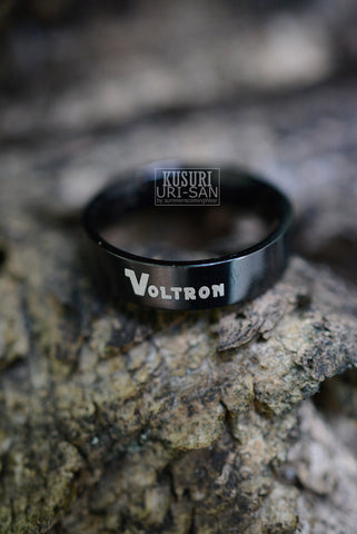 Voltron Black HQ stainless steel ring