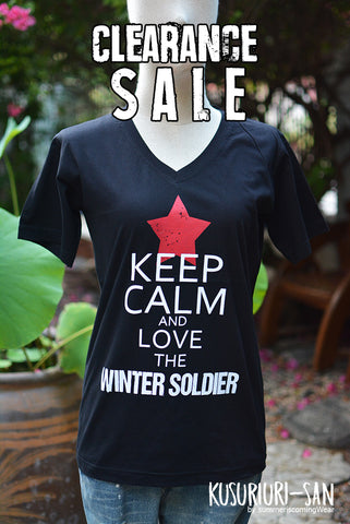 Clearance Sale - Bucky The Winter Soldier t-shirt keep calm and love winter soldier short sleeve