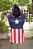 Captain America Cotton Hoodie sleeveless ver2 with shield on back side
