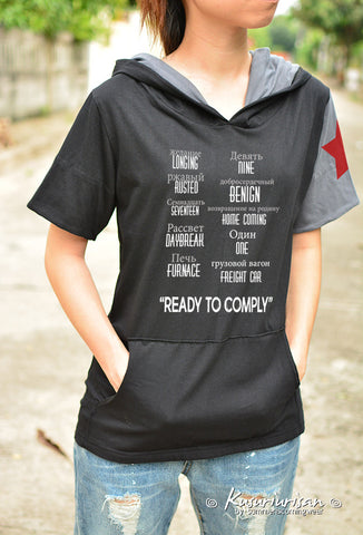 The winter Soldier Bucky Longing Rusted Seventeen Daybreak Furnace Nine Benign Homecoming One Freight Car ready to comply Ver2 t shirt hoodie short sleeve