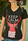 Keep Calm you're talking with Fannibal please don't be rude T-shirt short sleeve