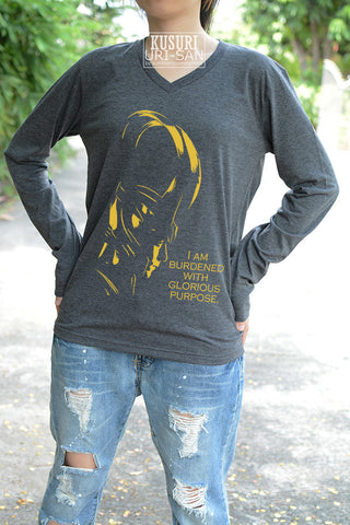 Loki I am burdened with glorious purpose yellow gold Version T-shirt long sleeve