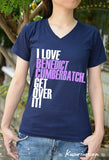 I love Benedict Cumbrbatch get over it ver.2 t shirt short sleeve