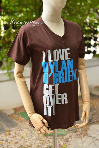 I love Dylan o'brien get over it ver.2 t shirt short sleeve