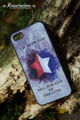 Silver and red star Stucky I'm with you till the end of the line phone case