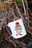Sock monkey hat Misha's Minions mug-4 color for choose