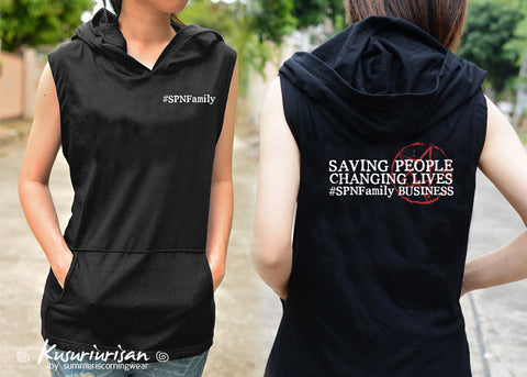 Saving people Changing lives #SPNFamily Business t-shirt hoodie sleeveless 2 side