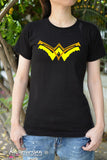 Kickass W symbol Wonder Woman t shirt short sleeve