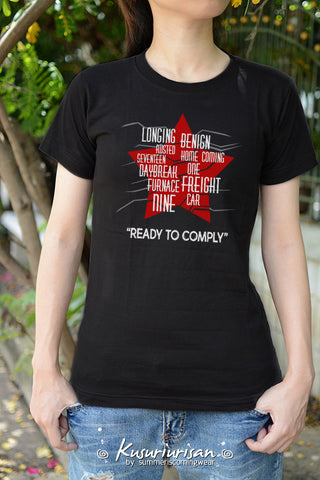 The winter soldier Bucky activation code trigger words Ready to comply t-shirt short sleeve
