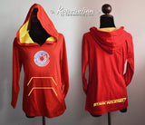 Iron man-Arc energy on red and yellow mark 4 t shirt Hoodie Cotton long sleeve